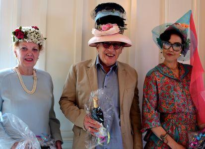 13.a.hat winners-Barbara Dixon most beautiful,Scott Seltzer most creative, Sarah Seal most humorous